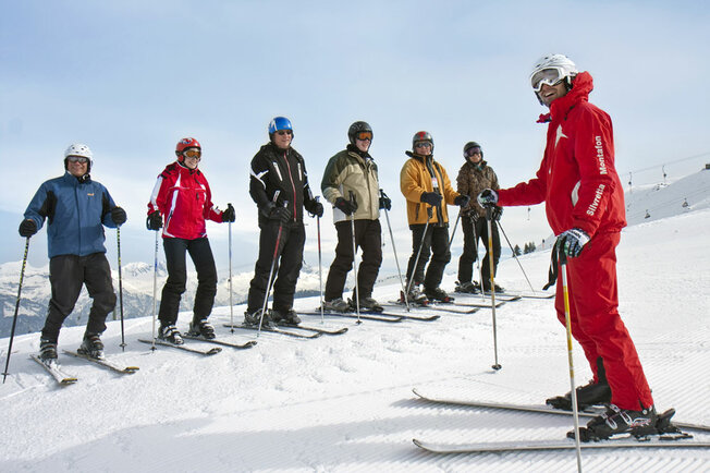 Adult ski course in the Montafon
